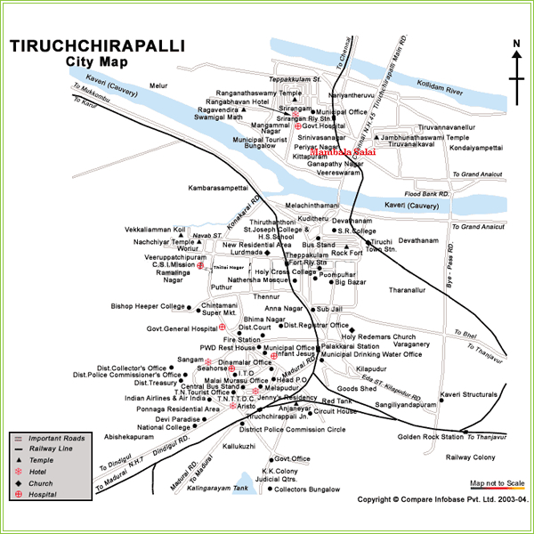 Trichy City Map