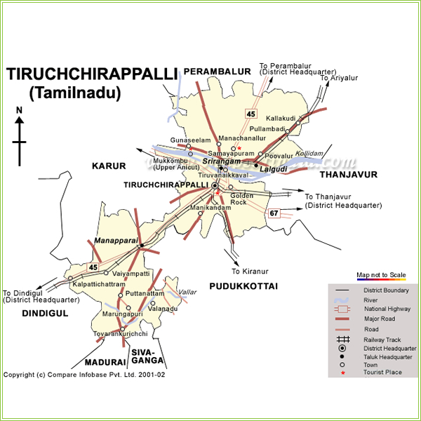 Trichy District Map